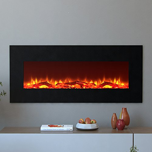 Moda Flame Houston 50 Inch Electric Wall Mounted Fireplace ...