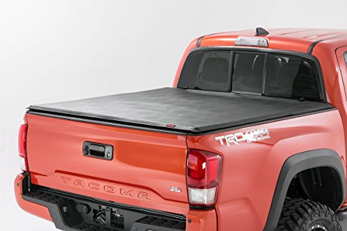 6501 - Soft Tri-Fold Tonneau Bed Cover (5-foot Bed w/Cargo Management System) for Toyota: 16-18 Tacoma 4WD/2WD (Cargo Management System)