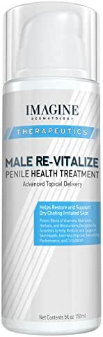 Penile Health Relief Cream No Mess Pump Soothe & Protect Red Irritated Chaffed Skin Male Re-Vitalize Large Value Size (5fl oz/ 150ml) 60 Day Return for Any Reason