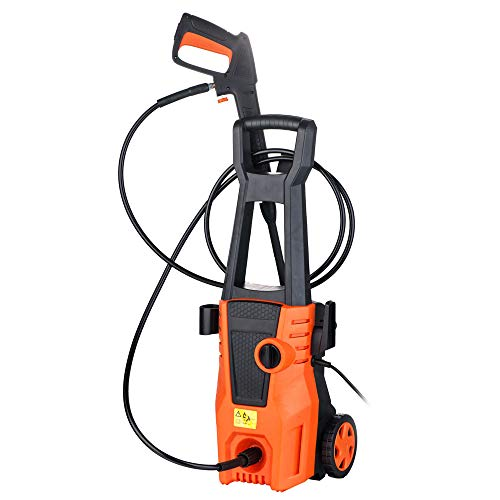 Lykos 1400W 1050PSI 1.35GPM Brush Motor High Pressure Washer Orange by Lykos