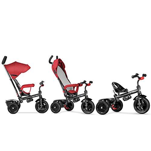 besrey 4 in 1 kid u0026 39 s tricycle convertible kids u0026 39  push stroller detachable learning trike