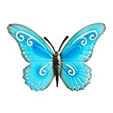 WINOMO Antique Metal Butterfly Wall Decor Simulation Hanging Butterfly Decoration(Blue)