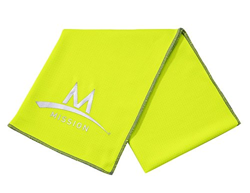 Mission Enduracool Techknit Cooling Towel  Large  High Vis Green