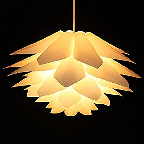Lotus Shape Chandelier Pendant Ceiling Lamp Diy Home Living Room Bedroom Decoration Shade Hanging Light Lampshade Led Party Xiaolanwelc Yellow