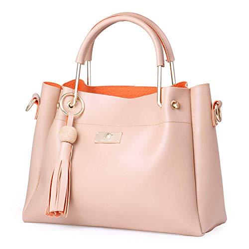 Shining Star Women's/Girls Handbag with Sling Bag Combo (Cream) ST-004CR