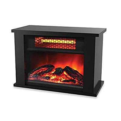 Life Zone 750 watts Electric Infrared Fireplace Heater Displays Flame Effect with Remote Control