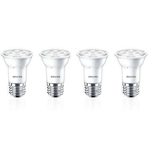 Philips LED 464981 50 Watt Equivalent Bright White PAR16 LED Light Bulb, Energy Star Certified, 4 Pack, Piece