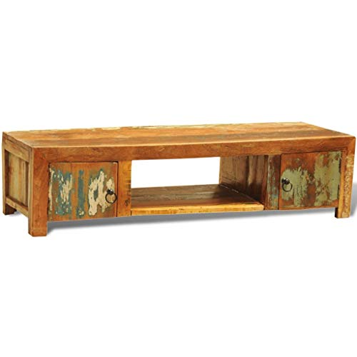 Furniture Entertainment Centers & TV Stands Reclaimed Wood TV Cabinet with 2 Doors Vintage Antique-Style