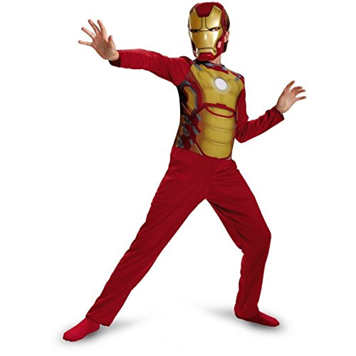 [Disguise Boys Iron Man 3 Mark 42 Halloween Costume Small (6) 039897812] (Cool Halloween Costumes Boys)