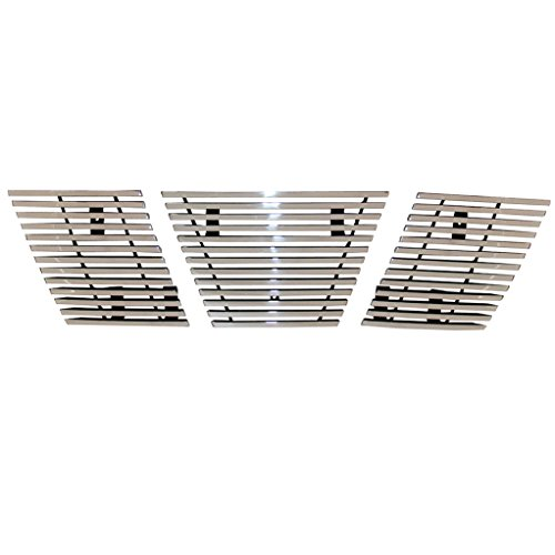 EAG 05-08 Nissan Xterra Billet Grille Aluminum Polished 8mm Horizontal Overlay With Logo Covered ()