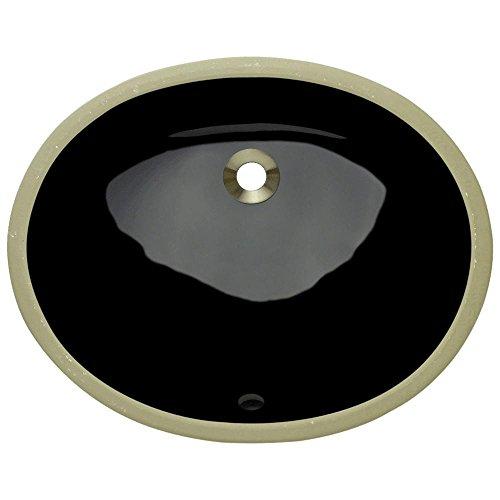 UPS-Black Undermount Porcelain Bathroom Sink, Sink Only