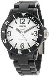 Invicta Women's 1208 Angel White Dial Black Plastic Watch