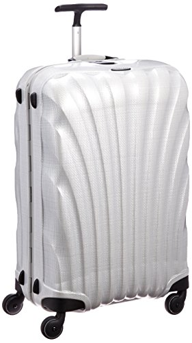 Samsonite Lite locked Spinner Valigia, 68 Litri, Off White