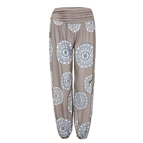 Geetobby Women Harem Pants Ethnic Print Trouser Loose Yoga Fitness Bodybuilding by Geetobby Women Pants