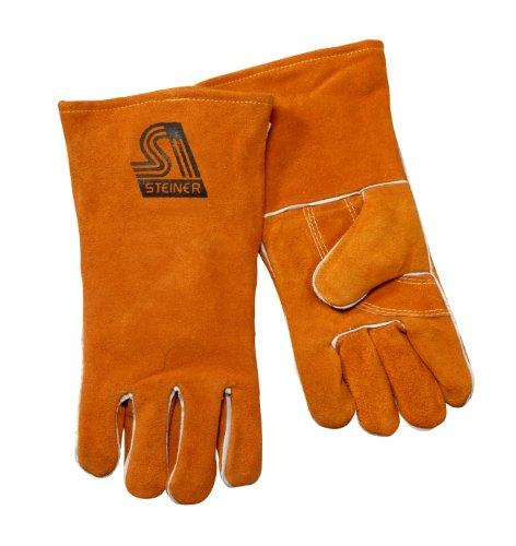 Steiner 2119Y-2X Welding Gloves, Brown Y-Series, Shoulder Split Cowhide, Foam Lined Back, 2X-Large (12-Pack) by Steiner (Image #1)
