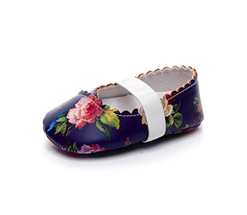 Amanod Fashion Floral Printing Walkers Princess Ballet Solid Soft Sole Anti-slip Shoes