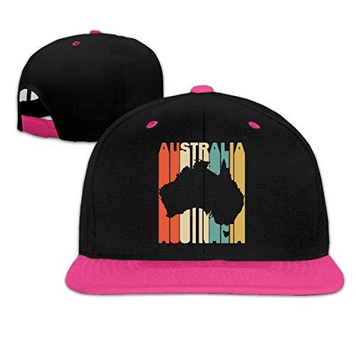 (Retro Style Australia Silhouette Women Men Hip-Hop Flat Bill Baseball Caps, Adjustable Trucker Hat)