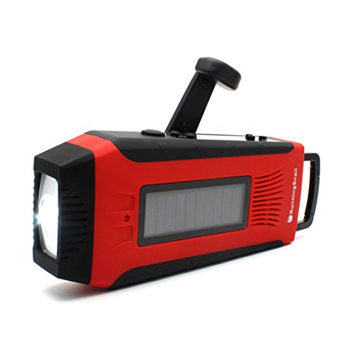 RunningSnail-Multi-purpose-Solar-Digital-Hand-Crank-AMFMNOAA-Weather-Radio-1W-Flashlight-LED-2000-mAh-Power-Bank