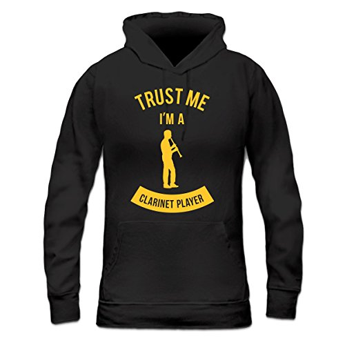 Sudadera con capucha de mujer Trust Me I'm A Clarinet Player by Shirtcity Negro