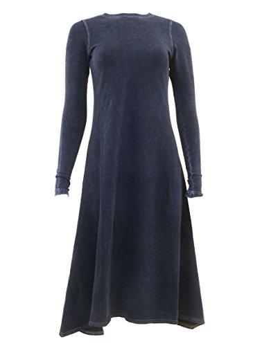 Hardtail Handkerchief Long Sleeve Dress (Denim, S)