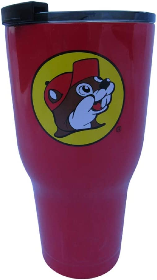 Buc-ee's Stainless Steel Tumbler With Bucky the Beaver, Double Wall Vacuum Insulated (Red, 30 Ounce)
