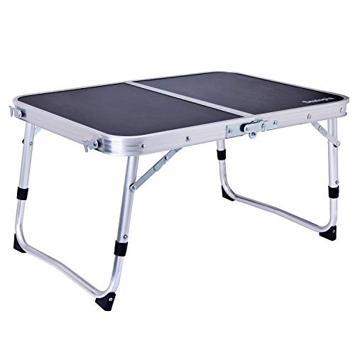 Seatopia Foldable Laptop Table, Small Folding Table, Bed Desk, Breakfast Bed Tray or Outdoor Mini Camping Table,Portable,Multi-Purpose and Ultra Lightweight-Black