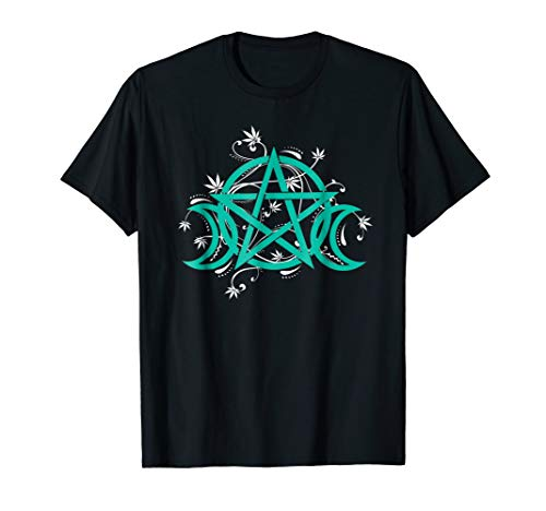 Triple Moon Pot Leaf Shirts Pentacle Wicca Witchcraft ()