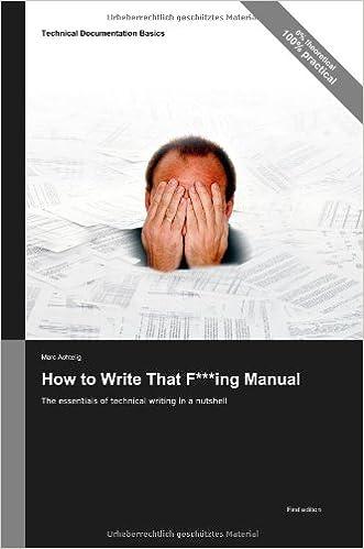 Basics of technical writing