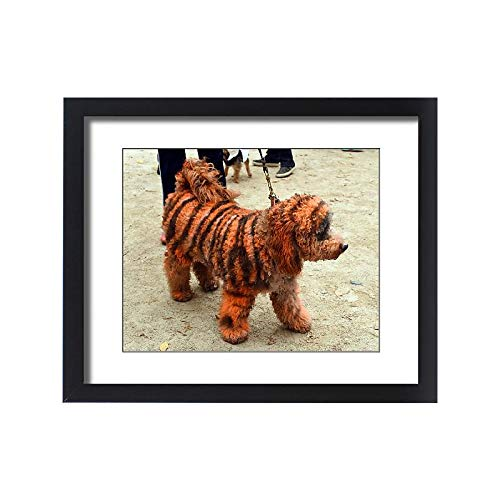 Media Storehouse Framed 20x16 Print of Us-Halloween-Dog-Parade (12270184)