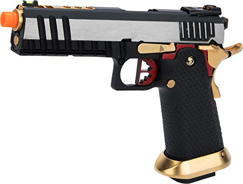 Evike AW Custom Competitor Hi-CAPA Gas Blowback Airsoft Pistol (Package: Two-Tone/Full-Auto Capable/Add Extra Magazine)