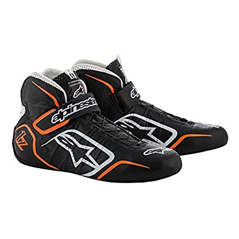 Size 11 Black//White//Orange 2019 Model 2715115-1241-11 Alpinestars Tech 1-Z Driving Shoe FIA//SFI