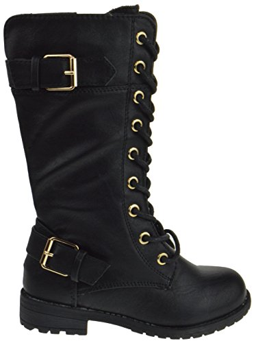 Forever Mango 27K Little Kids Combat Lace Up Boots