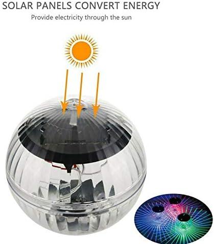 LED-Disco-Leuchten, wasserdichte LED-Solarleuchten für Schwimmbäder, schwimmende Mehrfarben-Wasserdrift-Leuchten, Sicherheitswasserleitungen (Emitting Color : RGB)