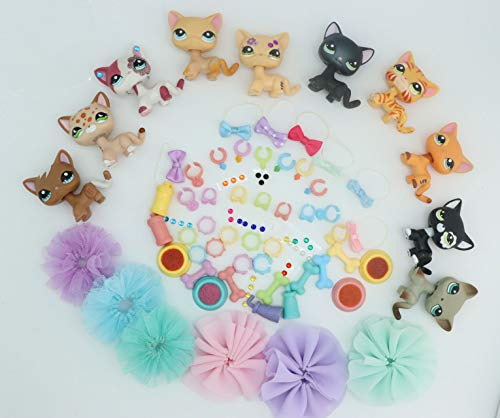 LPSTREE LPS Shorthair Cat Series Kitty Kitten Random 1 PCS and Random 2 PCS Accessories Surprise Gift for Kids Boys Girls