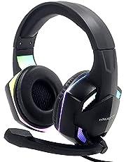 Fone Gamer Headset com Microfone LED Iluminação RGB H'maston EJ-G301 PC Notebook Playstation 4 PS4 Xbox Celular