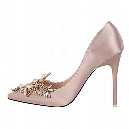 MissSaSa Damen elegant high heel Strass Pumps/Brautschuhe Pink