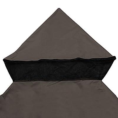 Big Times 8x8' 10x10' 12x12' 2-Tier Gazebo Top Canopy Replacement Cover UV30 Outdoor Patio Garden (10x10', Chocolate): Garden & Outdoor