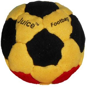 Juice 32-Panel Footbag, Red/Yellow/Green/Black