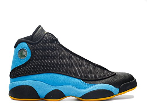 Nike Heren Air Jordanië 13 Retro Cp Pe Chris Paul Zwart / Sunstone-orion Blauw Leer