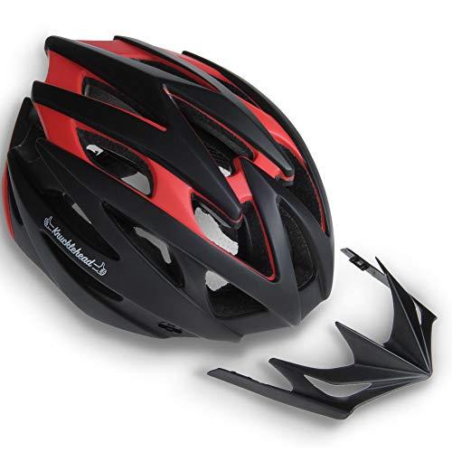 MOON Bike Helmet, Ultralight Bicycle Helmet for Men and Women, Lightweight Cycling Helmet for Road Mountain Biking Racing with Removable Visor