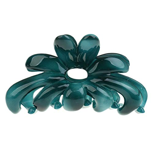 Womens Large Acrylic Hair Clip Claw Clamp Grips Barrette Hair Accessories (Color - Green)