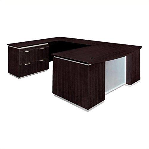 DMi Pimlico Left Lateral File Bow Front U-Shape Wood Desk (Flat Pack)
