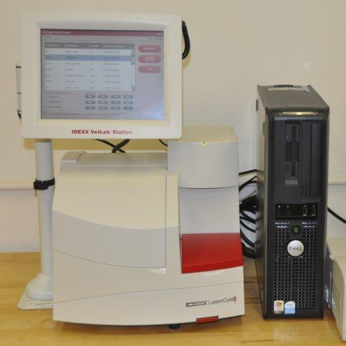 Idexx Lasercyte Veterinary Hematology Laboratory Blood Analyzer (with vetlab station)