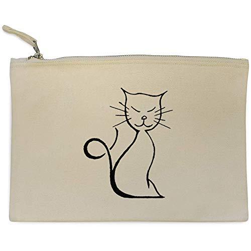 'gato Feliz' Azeeda Bolso cl00013405 Embrague Case Accesorios De F6wxqA7wnd