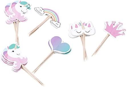 24 piezas de unicornio para decoración de magdalenas ...