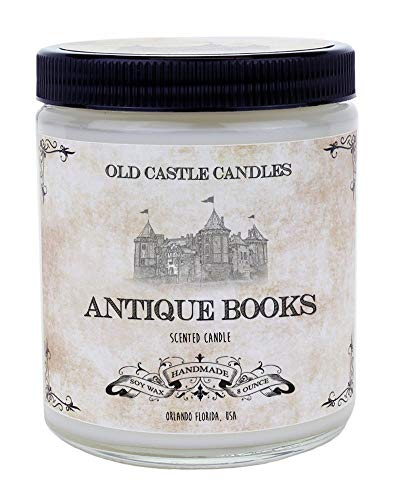 Antique Books, Handmade 8 oz Candle Vintage Literary Gift