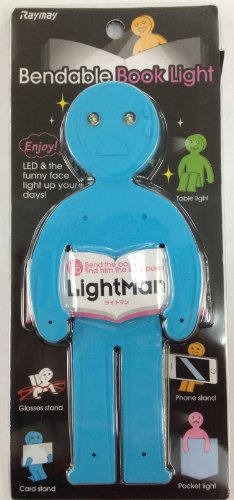 LightMan Bendable Book Light & Stand - Crying Blue