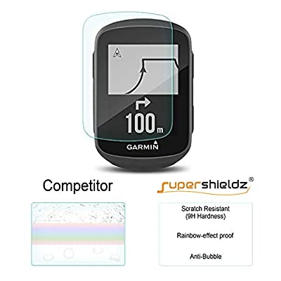 (2 Pack) Supershieldz for Garmin Edge 130 Tempered Glass Screen Protector, Anti Scratch, Bubble Free: GPS & Navigation