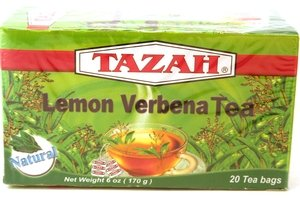 Tazah Lemon Verbena 20-Tea Bags, .6-oz. box