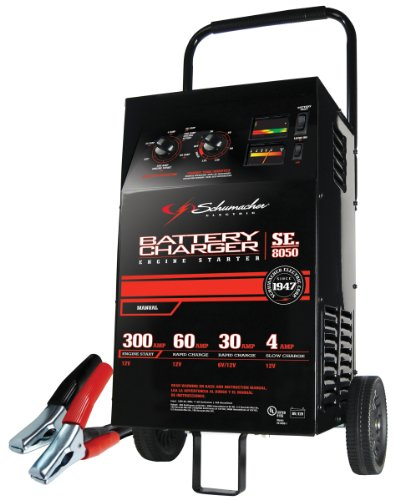 Schumacher SE-8050 4/30/60/200/300 Amp Manual Charger With - Heavy Battery Charger Duty